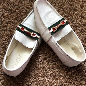 Gucci leather driver shoes